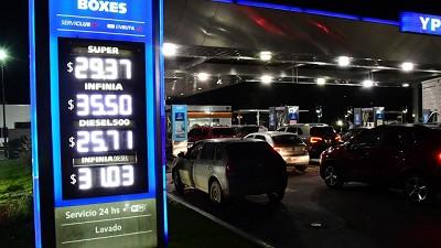 Los combustibles aumentan este sábado entre 1,5% y 2,5% por impuestos y otros
