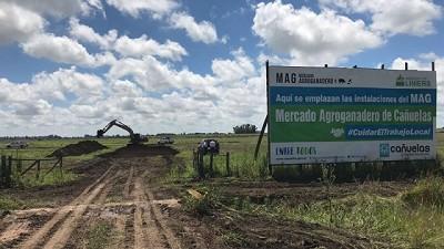 Comenzaron las obras del nuevo mercado de hacienda en Cañuelas