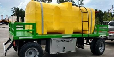 Mancini diseñó un acoplado tanque para apoyo de pulverizadoras