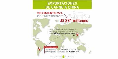 Crecieron un 65% las exportaciones bonaerenses de carne a China