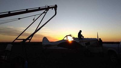 Covid-19: Los aviones agrícolas continúan trabajando