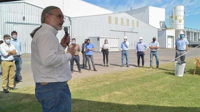 Basterra y Solmi participaron del inicio de la cosecha de maíz 2020/21 en la provincia de Santa Fe