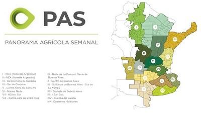 La condición hídrica continúa cayendo en gran parte del área agrícola